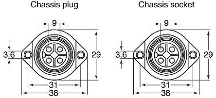 Hirschmann CA3LS 4 PIN Circular Connector Wire Assembly