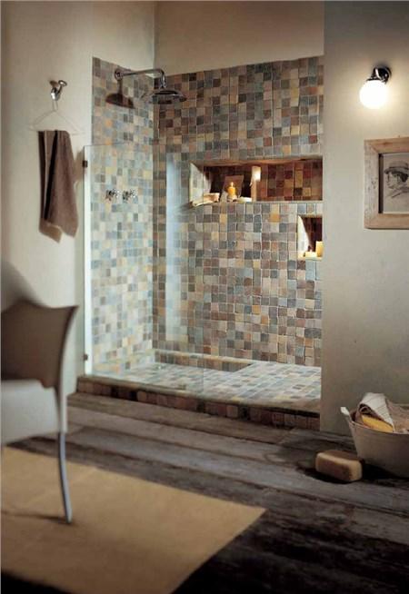 Le argille mosaico bagno