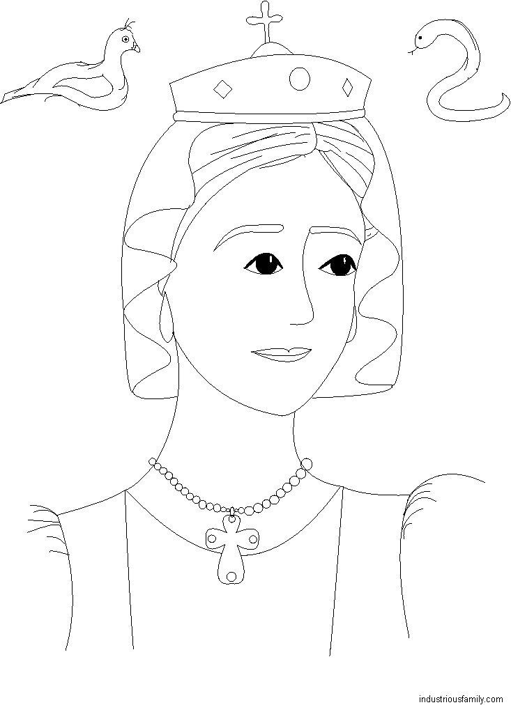 Free St Adelaide Coloring Page