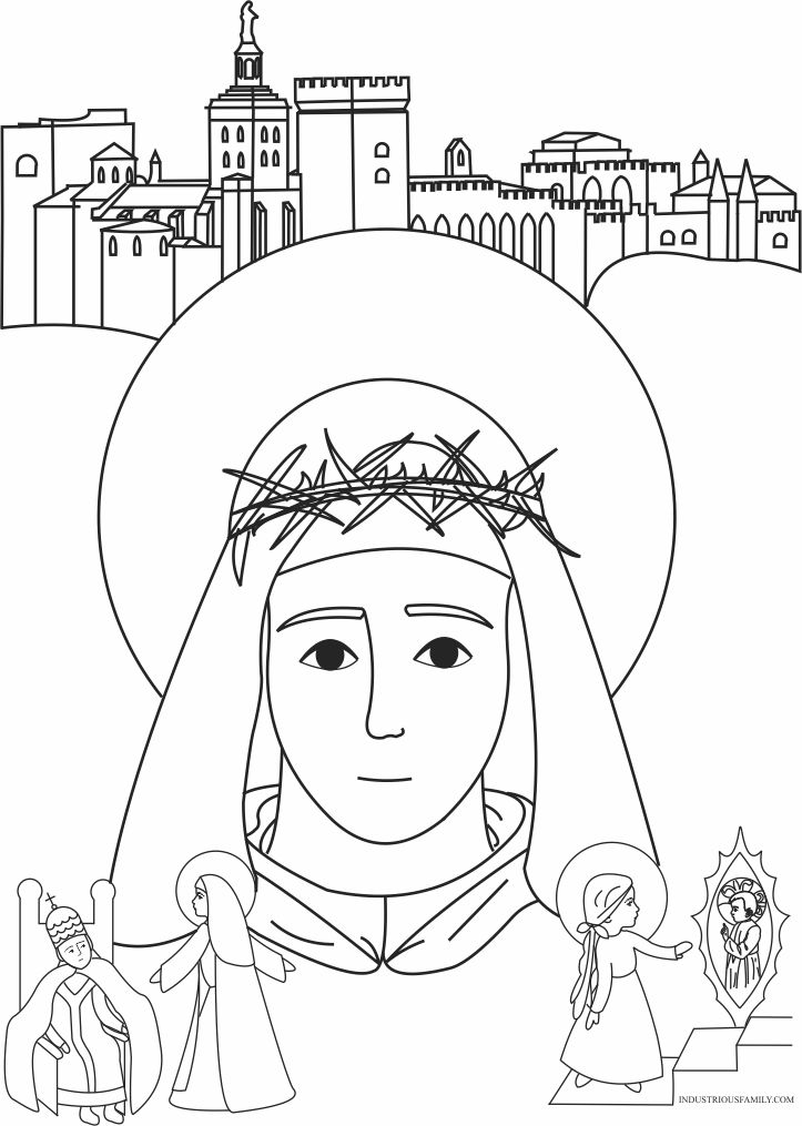 St. Catherine of Siena Coloring Page