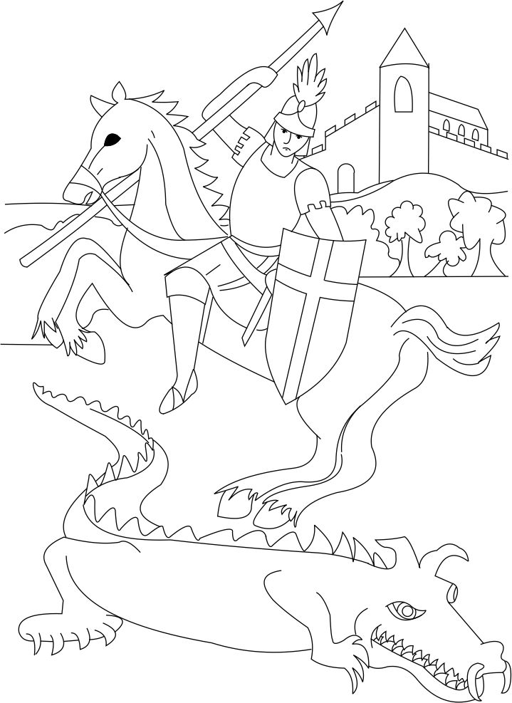 Free St George Coloring Page