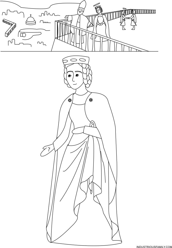 Free St. Isabelle of France Coloring Page