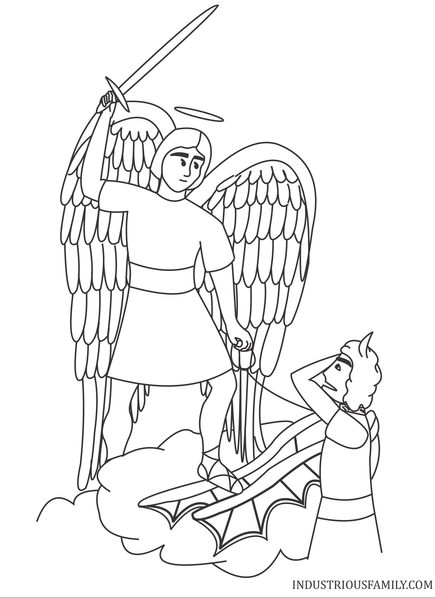 Free St Michael Coloring Page