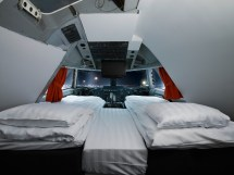 Flying Eco-hotel . Jumbo Stay Plane Recycled
