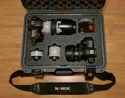 MyCaseBuilder, custom foam insert protecting my Canon gear