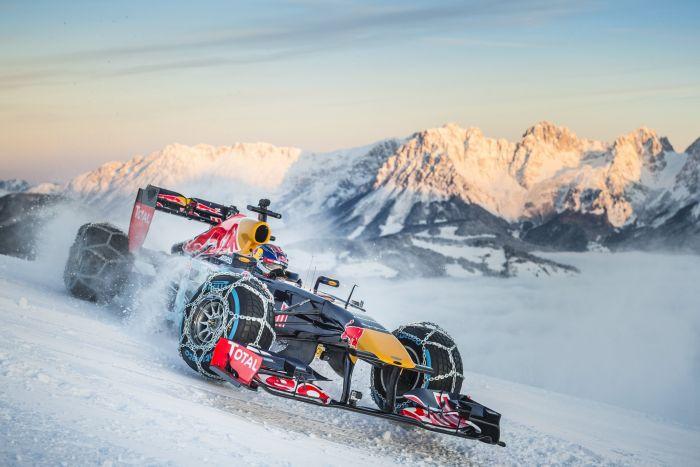 Image result for red bull ski slope f1