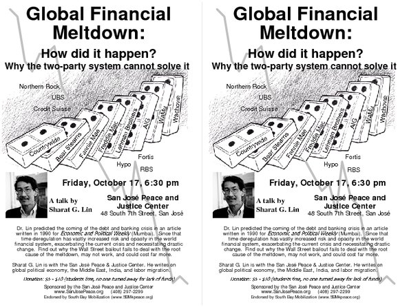 Global Financial Meltdown: How did it happen? Why the two
