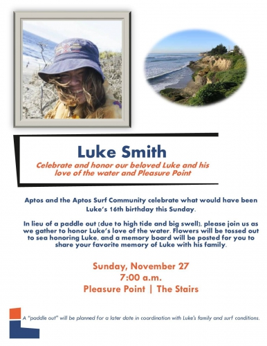 Celebrate and Honor the Life of Luke Smith Indybay