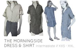 French Navy Morningside Dress & Shirt Sew Along
