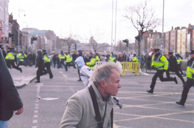Guards protecting the Love Ulster parade last time, and attacking the rioters. Will we see this on the streets of Dublin again?