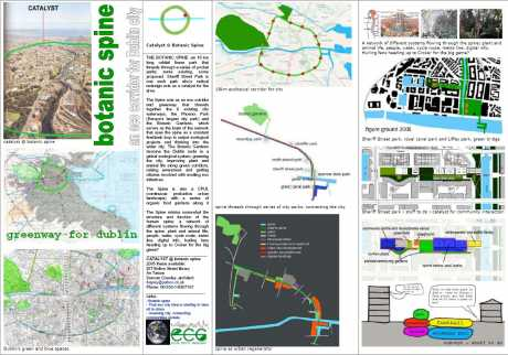 botanic spine - a greenway and CPUL for dublin - click on to enlarge