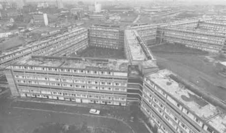 Divis Street flats - scene of one of Brian Anson`s architectural battles