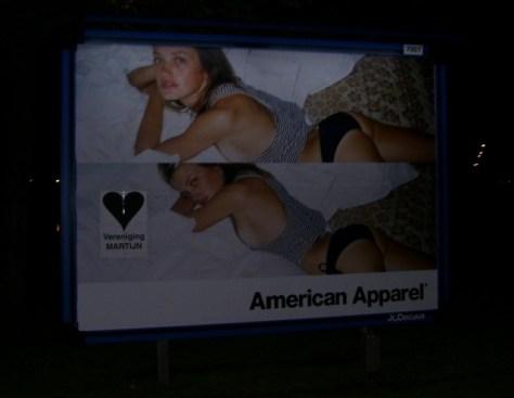 Het billboard op Mauritskade