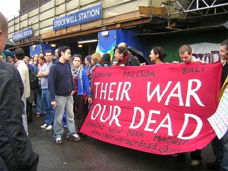 Jean Charles de Menezes murdered, demonstration