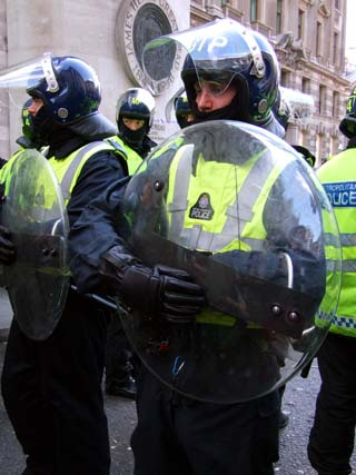 RubberCops, near The Bank of England.