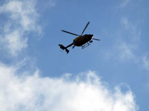 The usual noisy, obtrusive Copper Chopper turned up and buzzed us for a while.