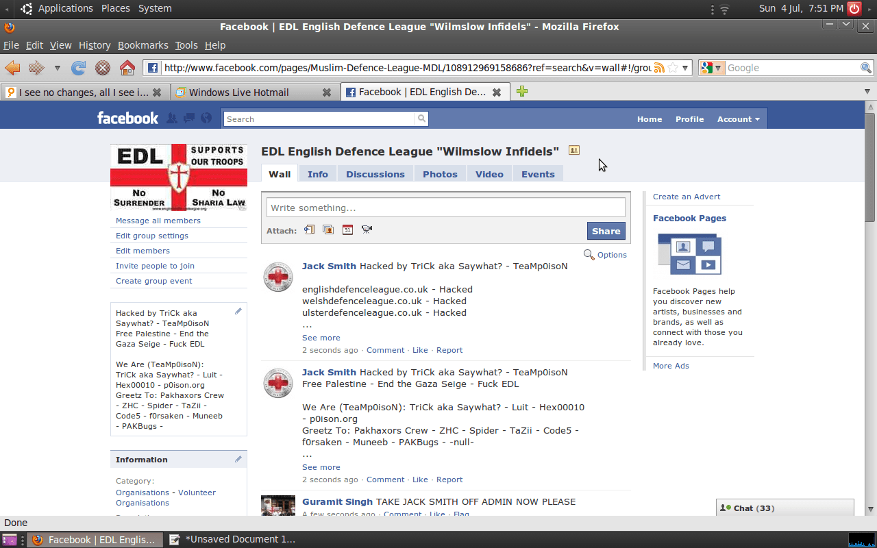 EDL Division Hacked