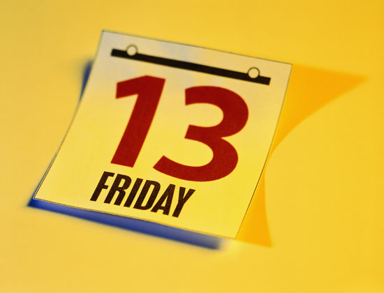 Did You Know? – 2012 Has Three Friday the 13ths, 13 Weeks Apart!