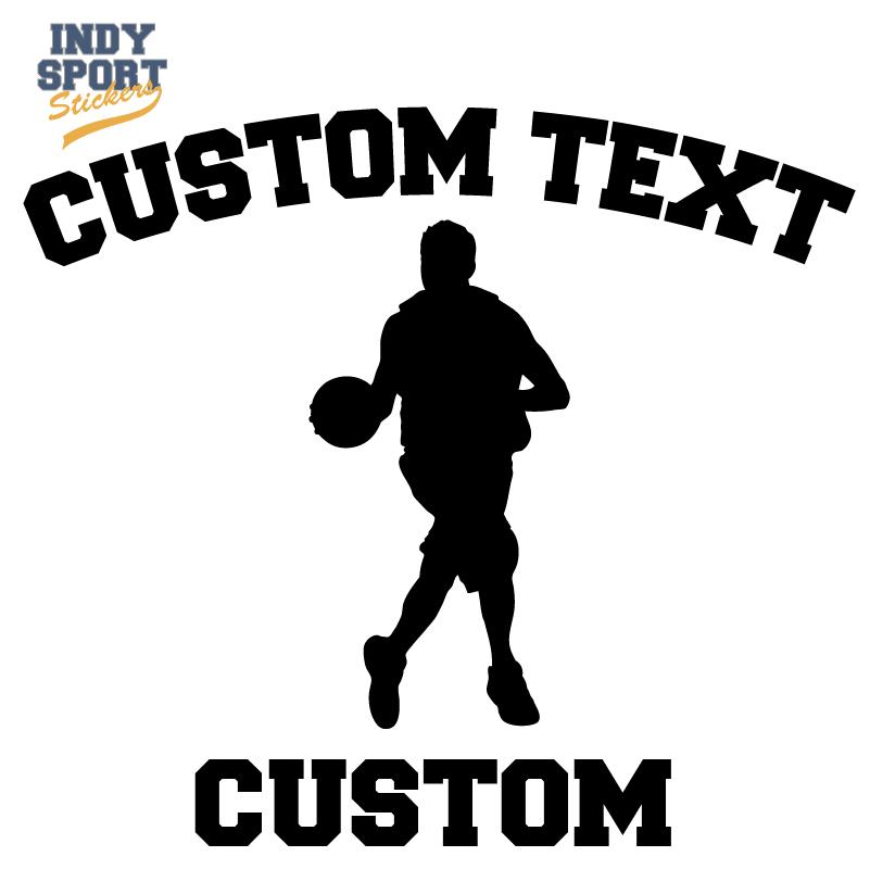 Basketball Silhouette Player with Basketball Grandma Text