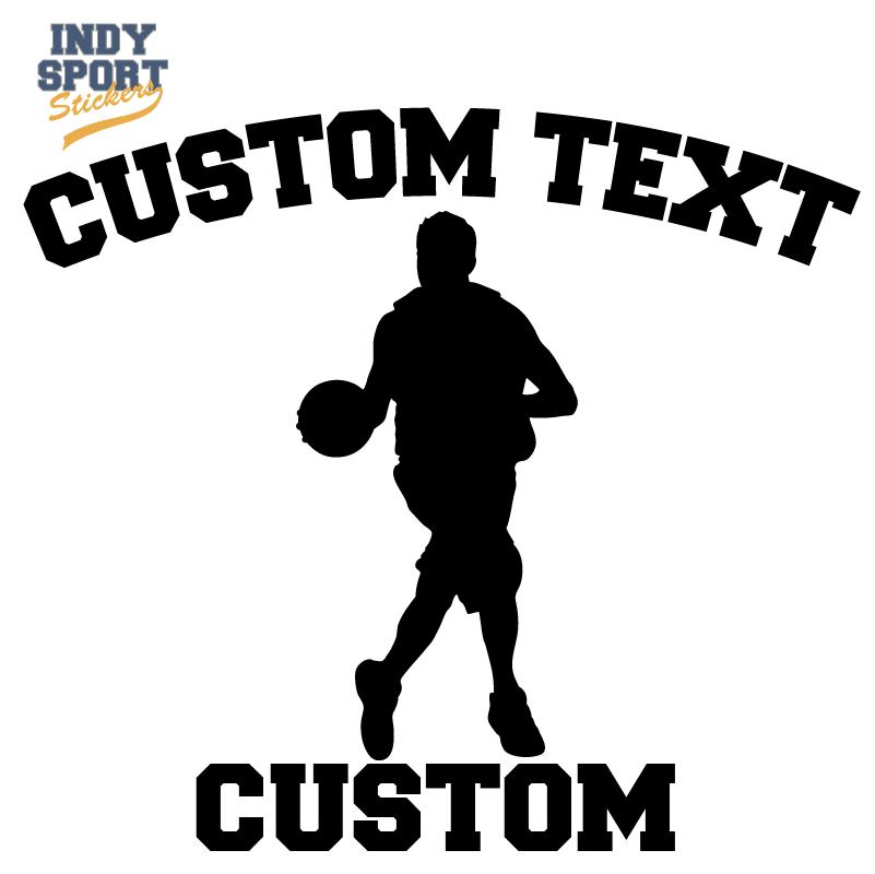 Basketball Silhouette Player with Basketball Grandpa Text