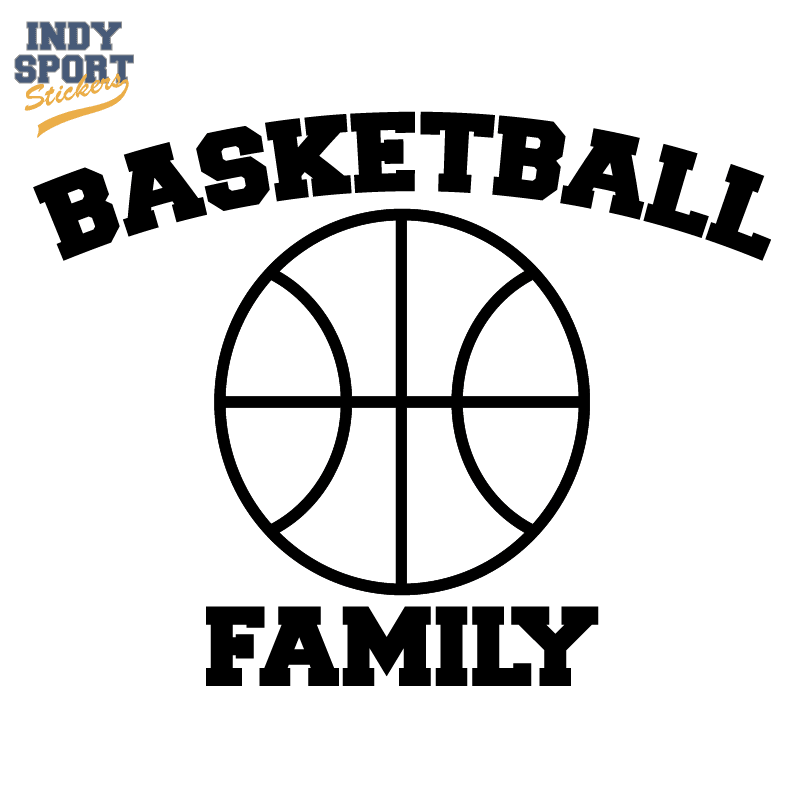 Basketball Silhouette with Basketball Family Text Decal