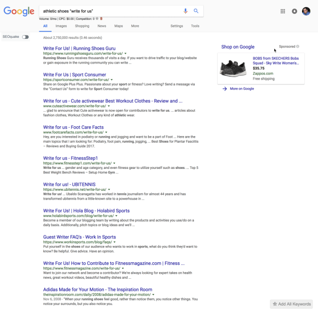 search engine operator