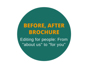 Brochure editing: Before and after brochure