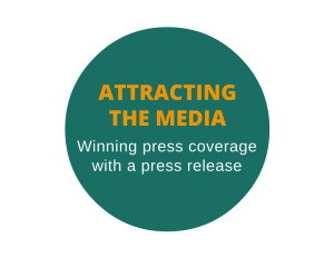 Press release to earn media attention and interviews