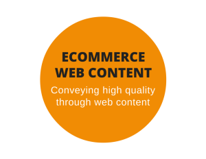 Web content for an ecommerce site's online store