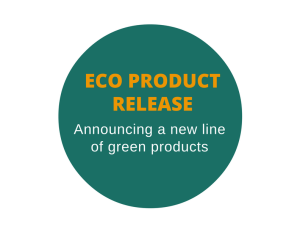 Press release to announce a new line of eco-friendly products
