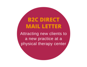 Direct mail letter for a physical therapy center