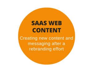 SaaS web content following a rebranding effort