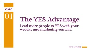 Improve your website and your content with the YES Advantage, a free e-course