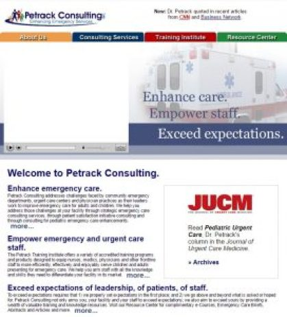 Web content for a medical consultant
