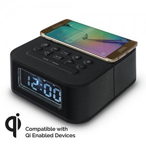 DreamQi Wireless Charging Dual Alarm Clock w/ Bluetooth1
