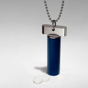 Cielo Pill Holders - Steel Keychain Pill Fob / Necklace12