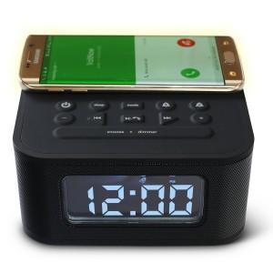 DreamQi Wireless Charging Dual Alarm Clock w/ Bluetooth11