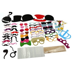 Tinksky Photo Booth Props 60 piece DIY Kit for Party 12