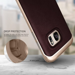 Galaxy S7 Case, Caseology Leather Bumper Cover11