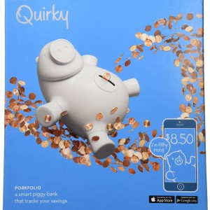 Quirky Porkfolio Smart Piggy Bank New
