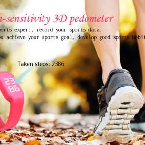 W1P Smart Wristband 3D Pedometer