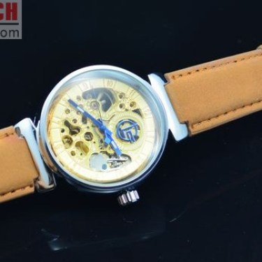 Automatic Skeleton Golden Watch J220