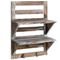 MyGift Rustic Wood Wall Mounted Organizer Shelves Best Offer