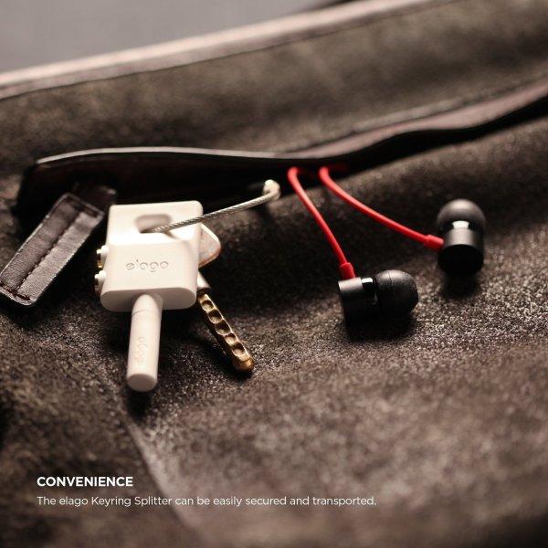 Keyring Headphone Splitter Iphone Ipad Ipod Galaxy2
