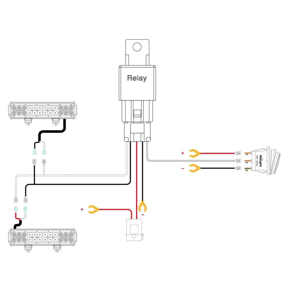 medium resolution of nilight led light bar wiring harness kit 12v on off switch led schematic diagram led capacitor wiring schematic