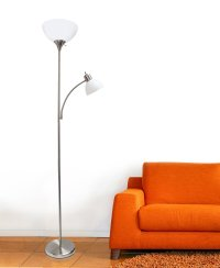 Simple Designs Floor Lamp with Reading Light Best Offer ...