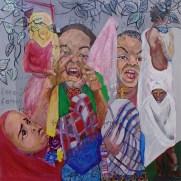 Ferenji Ferenji, Ethiopia mixed media on canvas