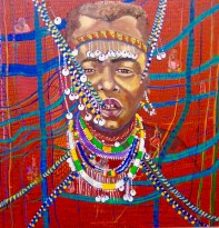 Maasai Memories, mixed media on canvas