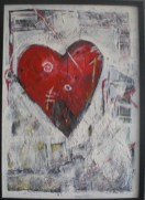 with love, for my Dad, Mixed media on canvas. 78x50cm in private collection, Holland