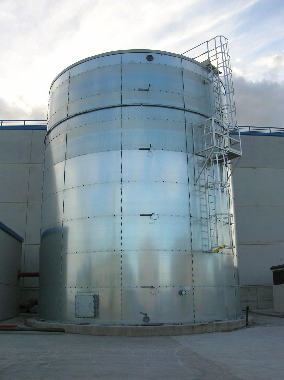 Construcción de depósitos de estructura metálica precio en Alicante